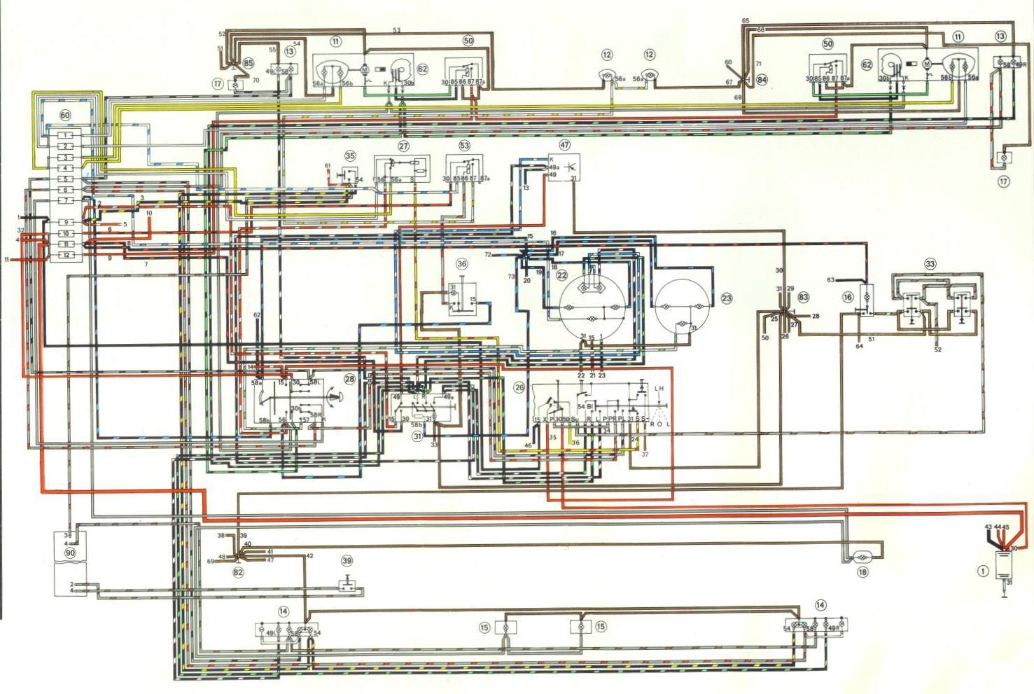 914world.com   1974 wiring/current flow diagram  914 world