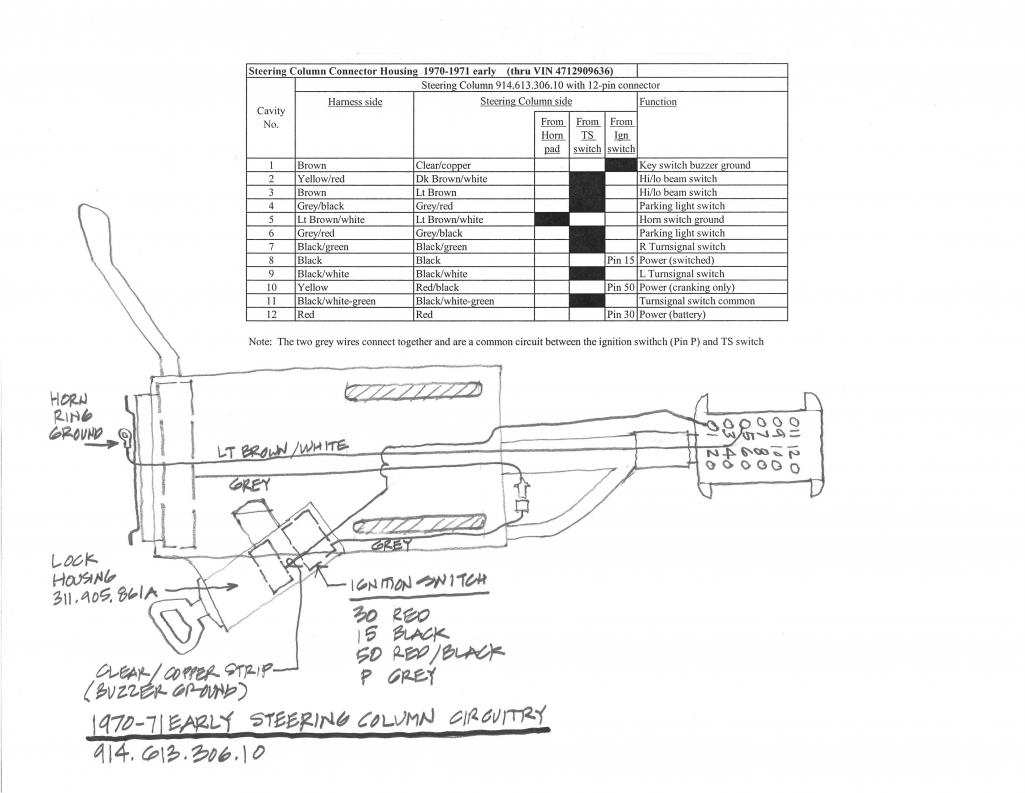 Porsche Ignition Switch Wiring Trusted Diagram 1987 944 Electrical 914world Com 1970 914