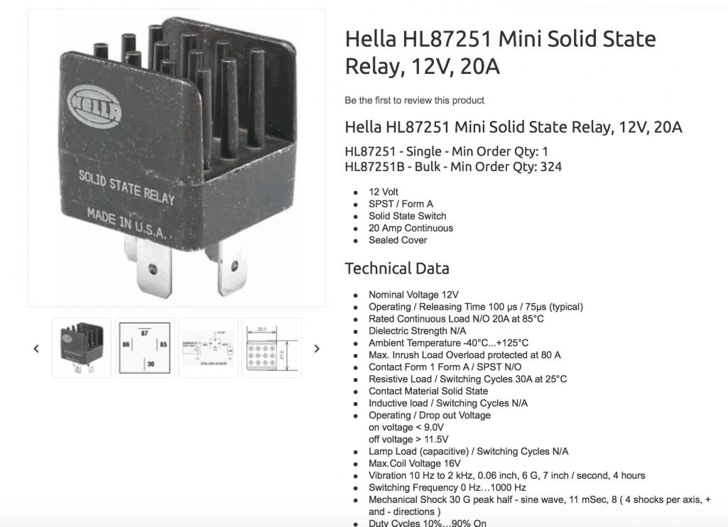 Pump Relay Wiring Diagram On Hella Solid State Relay Wiring Diagram