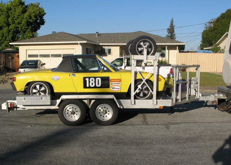 914 Race Car And Trailex Aluminum Trailer For Sale