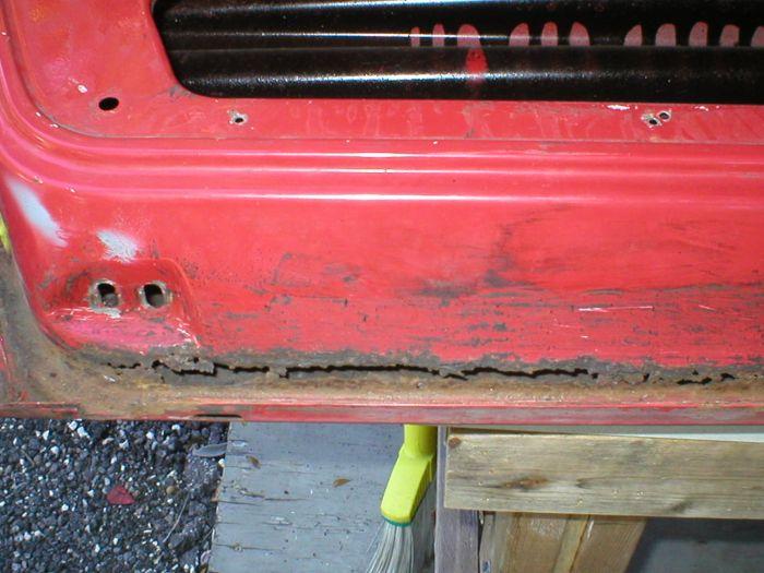 Car Rust Repair: Door Rust & Simple Grey Metal Door With Spots Of Rust