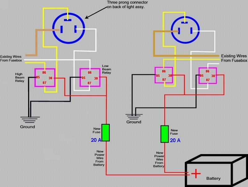 headlamp wiring diagram headlamp image wiring diagram car headlamp wiring diagram jodebal com on headlamp wiring diagram