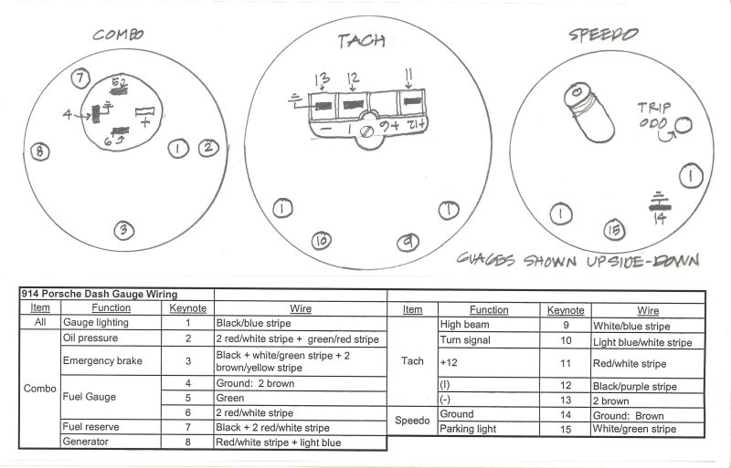 914world com u003e gauges wiring diagram help rh 914world com Marine Fuel Gauge Wiring Diagram Marine Fuel Gauge Wiring Diagram