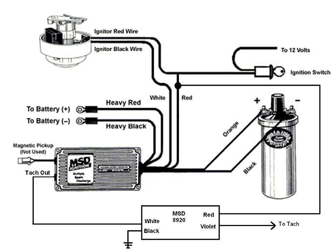 Msd Tach Wiring Diagram - wiring diagrams schematics