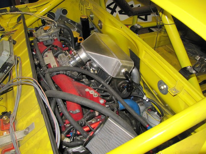 porsche conversion dedicated ax racecar page nasioc engine bay the intercooler installed getting pretty busy in there