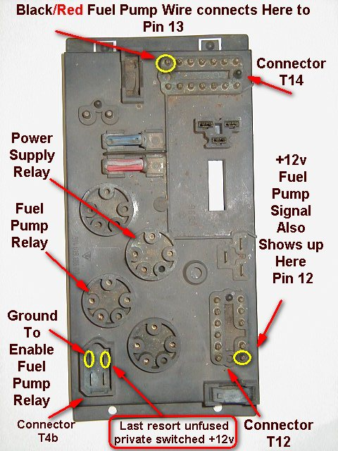 porsche 914 fuel pump relay location
